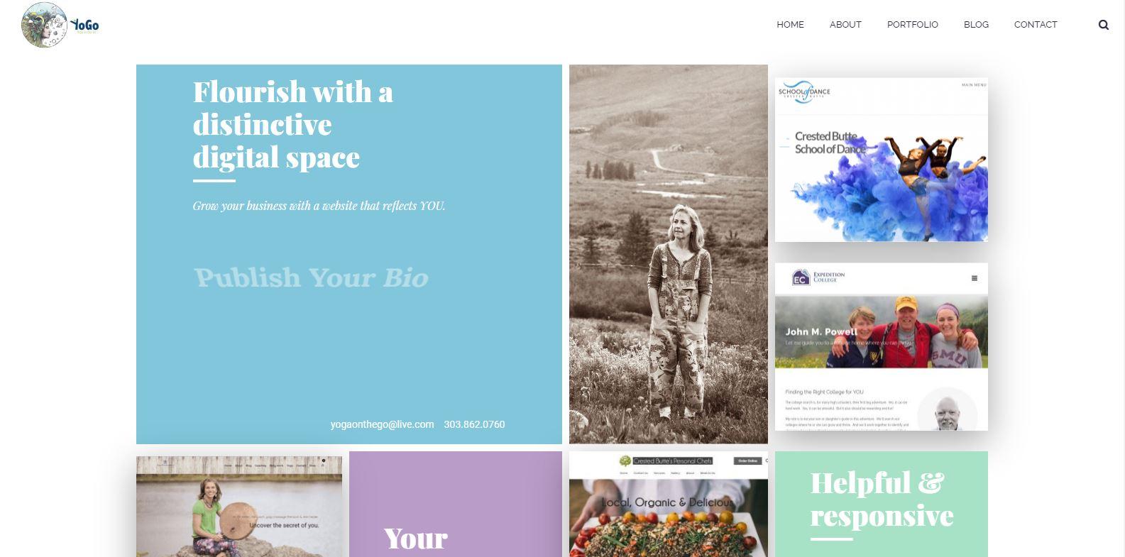 Old Yogo Web Designs home page
