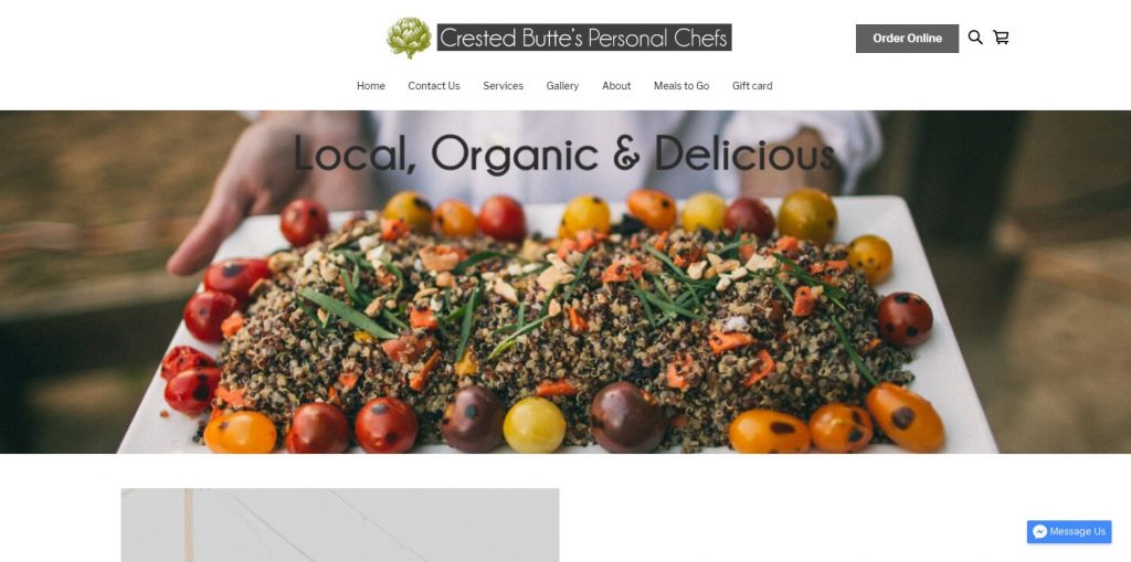 Crested Butte Personal Chefs home page